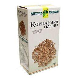 Кориандра плоды, сырье растительное измельченное, 50 г, 1 шт.