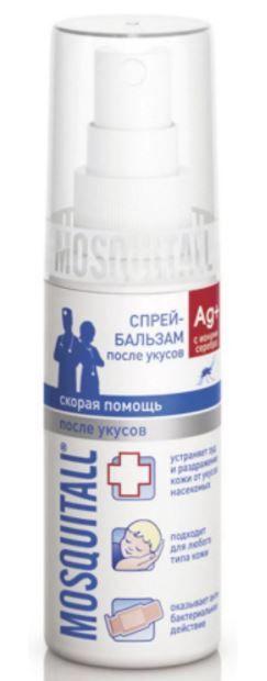 Mosquitall Скорая помощь после укусов спрей-бальзам, бальзам, 50 мл, 1 шт.