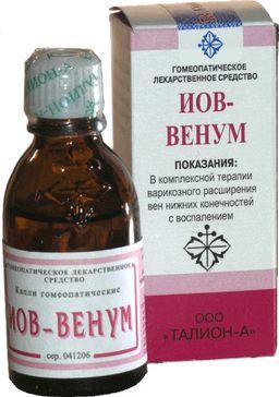 Иов-венум, капли гомеопатические, 25 мл, 1 шт.