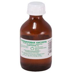 Салициловая кислота, 1%, раствор для наружного применения спиртовой, 40 мл, 1 шт.