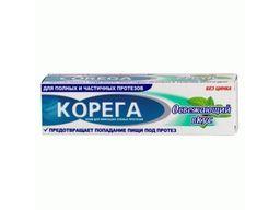 Корега Освежающий вкус Крем для фиксации зубных протезов, крем для фиксации зубных протезов, 40 г, 1 шт.